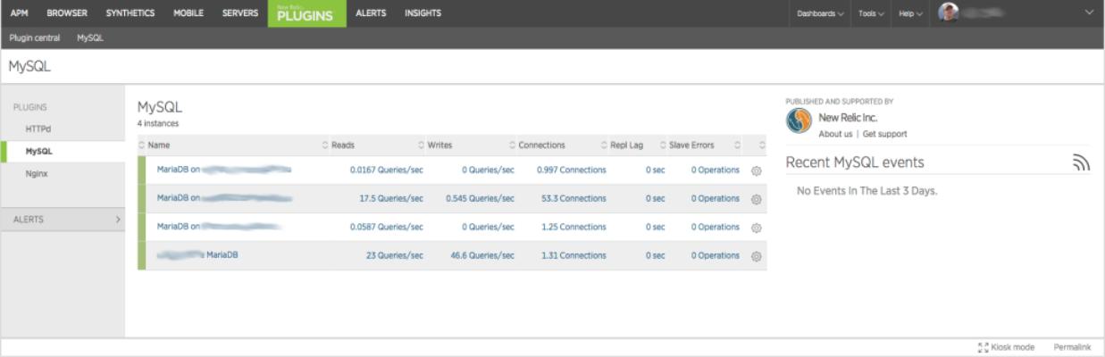 Monitoring MariaDB / MySQL with New Relic